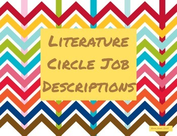 Literature Circle Job Descriptions