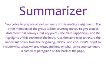 Literature Circle Job Descriptions *FREE*