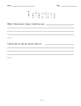 Literature Circle Job Sheets