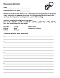 Literature Circle Job Sheets from Discussion Director to V