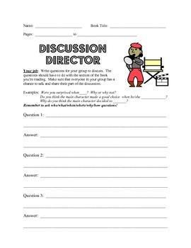 Literature Circle Job Sheets/Grades 2 and 3