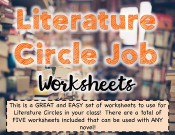 Literature Circle Job Worksheets