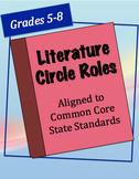 Common Core-Aligned Literature Circle Jobs (Grades 5-8)