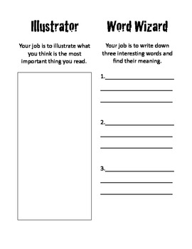 Literature Circle Jobs Printable