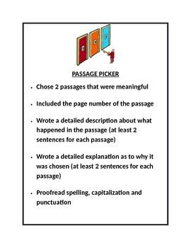 Literature Circle Jobs - Students' expectation sheets