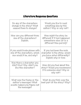 Literature Circle Jobs and Worksheets with Graphic Organizers