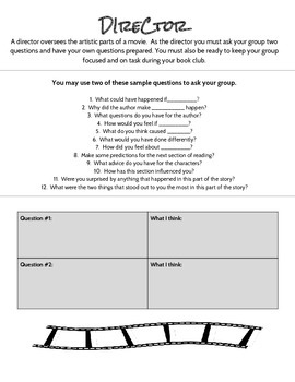Literature Circle Jobs with Movie Theme