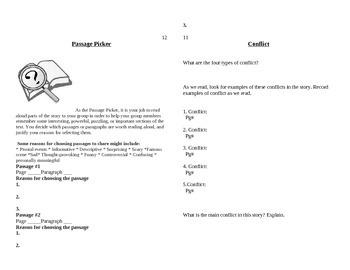 Literature Circle Journal Template