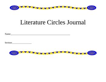 Literature Circle Journals