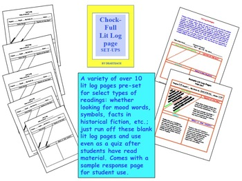 Literature Circle: Literature Log Page Setup