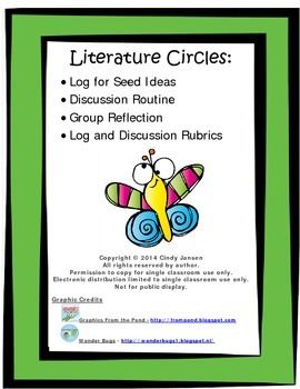 Literature Circle Log, Discussion, and Rubrics for any book