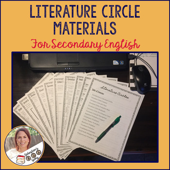 Literature Circle Materials for Secondary English- Print and Go!