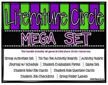 Literature Circle Bundle- Activities, Journal, Game, & More {Use with any book}