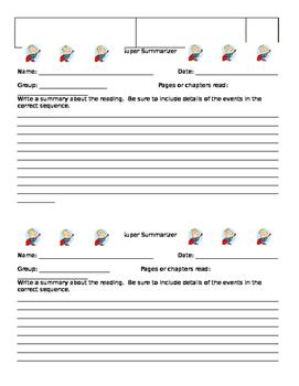 Literature Circle/Novel Study Job Sheets