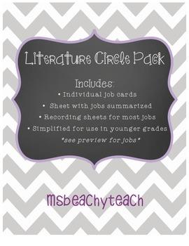 Literature Circle Pack {lower grade friendly}