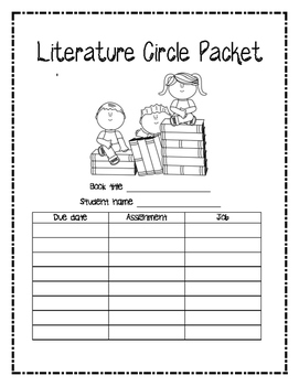 Literature Circle Packet - CCSS aligned