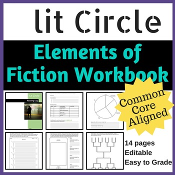 Literature Circle Workbook for Elements of Fiction {Common Core Aligned}