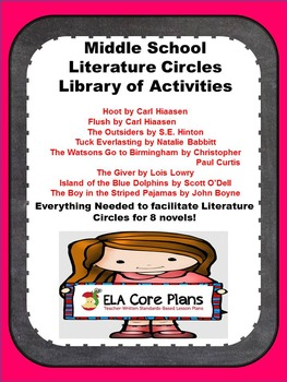 Literature Circle Packet ~ Everything Needed to Start Lite