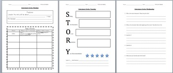 Literature Circle Packet Template