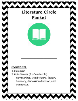 Literature Circle Packet with Blank Calendar and Role Sheets