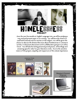 "Literature Circle Project: Theme ""Homelessness"""