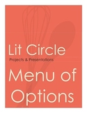 Literature Circle Projects Choice Menu *Matching Rubrics A