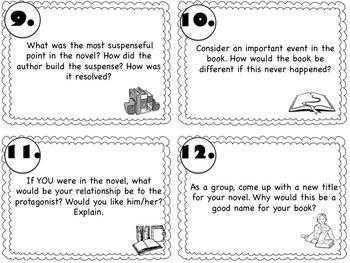 Literature Circle Task Cards