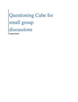 Literature Circle Questioning Cube