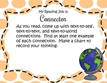 Literature Circle/ Reading Jobs Cards and Posters