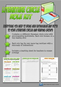 Literature Circle Reading Roles Kit