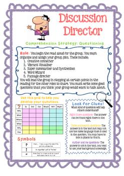 Literature Circle / Reciprocal Reading Task Cards