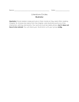 Literature Circle Recording Sheets
