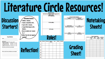 Literature Circle Resources!