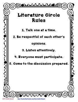Literature Circle Resources for Fiction & Nonfiction Texts