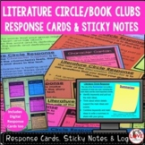 Literature Circle Response Cards & Sticky Notes