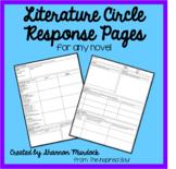 Literature Circle Response Pages