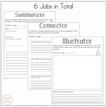 Literature Circle Response Sheets