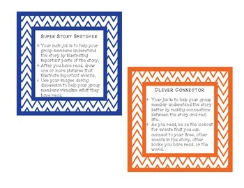 Literature Circle Role Cards (Chevron colorful borders!)