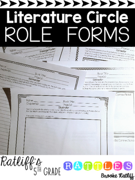 Literature Circle Role Forms