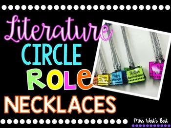 Literature Circle Role Necklaces