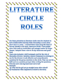 Literature Circle Role Printable Sheets