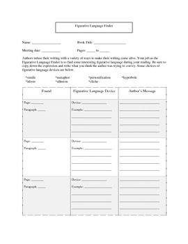 Literature Circle Role Sheets