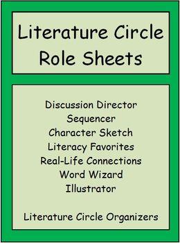 Literature Circle Role Sheets (Editable)