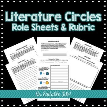 Literature Circle Role Sheets & Rubric