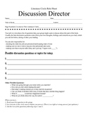 Literature Circle Role Sheets - Small Group Reading