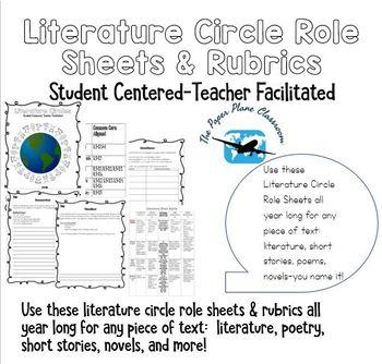 Literature Circle Role Sheets and Rubrics