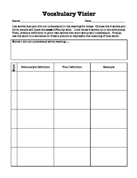 Literature Circle Role Worksheets