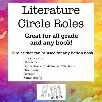 Literature Circle Role for ANY book