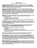 Literature Circle Roles and Handouts