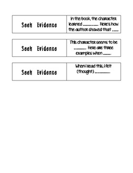 Seek Evidence Question Stems